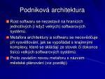 podnikov architektura