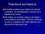 podnikov architektura1