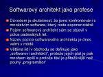 softwarov architekt jako profese1