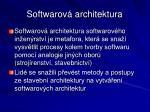 softwarov architektura