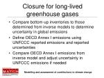 closure for long lived greenhouse gases