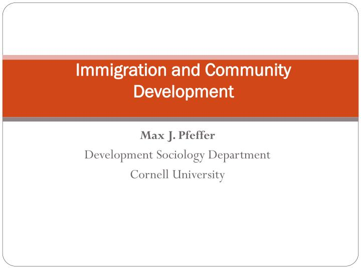 immigration and community development n.