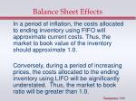 balance sheet effects