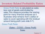 inventory related profitability ratios