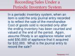 recording sales under a periodic inventory system