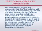 which inventory method do companies use