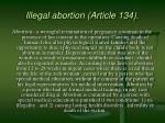 illegal abortion article 134