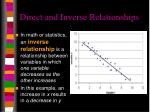 direct and inverse relationships1