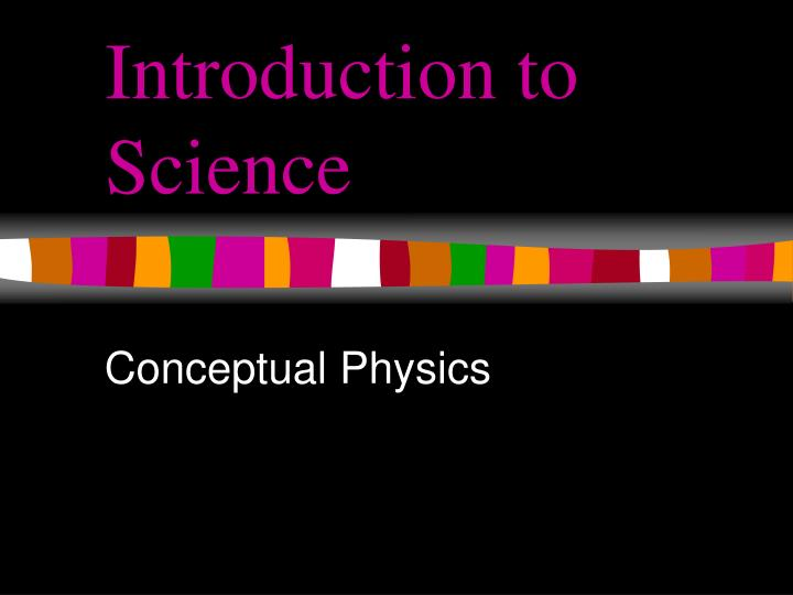 introduction to science n.