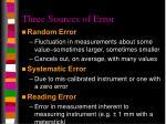 three sources of error