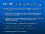 cmesp sampling methodology