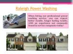 raleigh power washing
