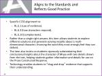 aligns to the standards and reflects good practice5