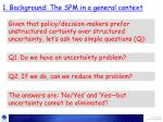 1 background the spm in a general context