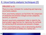 4 uncertainty analysis techniques i