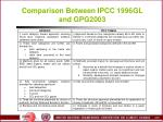 comparison between ipcc 1996gl and gpg2003