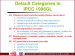 default categories in ipcc 1996gl