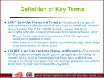 definition of key terms