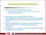 emission removal factors