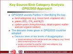 key source sink category analysis gpg2003 approach