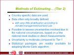 methods of estimating tier 2