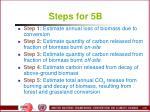 steps for 5b