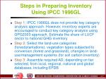 steps in preparing inventory using ipcc 1996gl