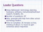 leader questions