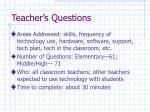 teacher s questions