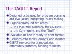 the taglit report