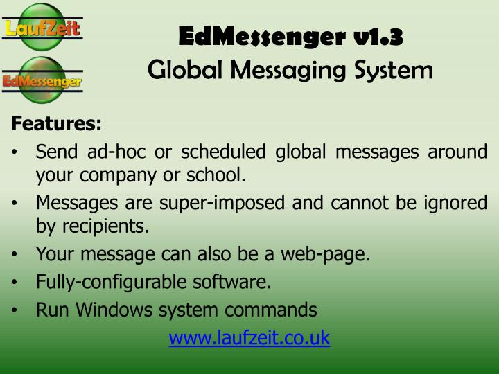 edmessenger v1 3 global messaging system n.