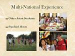 multi national experience