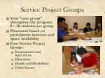 service project groups