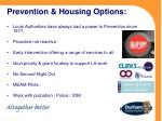prevention housing options