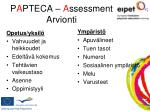 p a pteca a ssessment arvionti