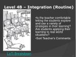 level 4b integration routine1