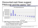 discounted cash flows suggest pittsburgh and the casino win
