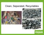 clean separated recyclables