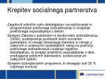 krepitev socialnega partnerstva