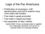 logic of the pax americana