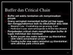 buffer dan critical chain