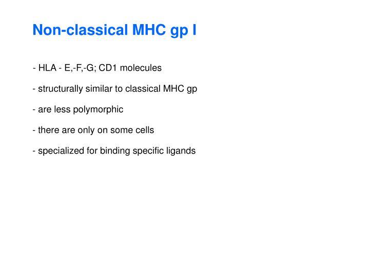 Non-classical MHC gp I