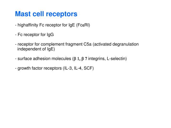 Mast cell receptors
