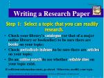 writing a research paper1