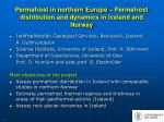permafrost in northern europe permafrost distribution and dynamics in iceland and norway