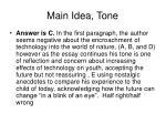 main idea tone
