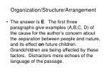 organization structure arrangement