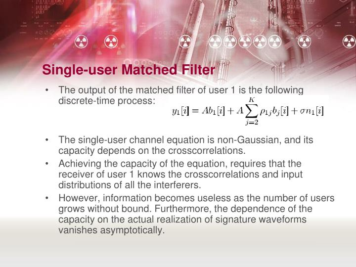 Single-user Matched Filter