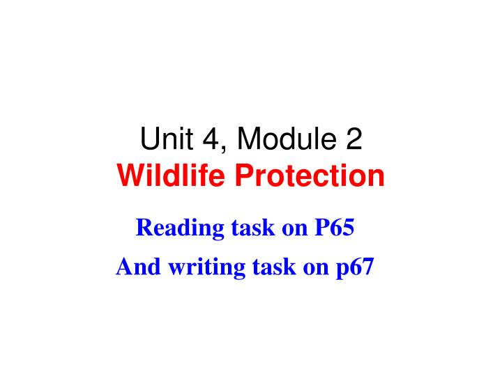 unit 4 module 2 wildlife protection n.