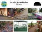recycled rubber outdoor surfaces